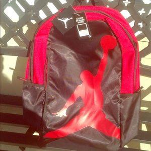 A brand new Jordan's backpack